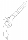 Pistol coloring pages