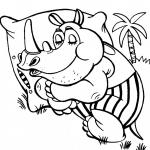 Rhinoceros Coloring Pages
