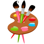 Paints coloring pages