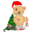 Christmas bear coloring pages