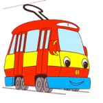 Tram coloring pages