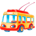 Trolleybus coloring pages