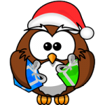 Cute animal christmas coloring pages