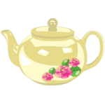 Decorative teapot coloring pages