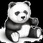 Panda bear coloring pages