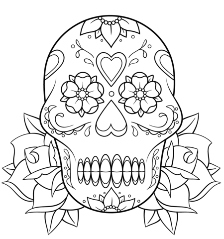 Dia De Los Muertos Coloring Pages