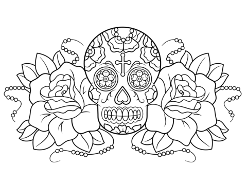 Dia De Los Muertos Coloring Pages to download and print for free