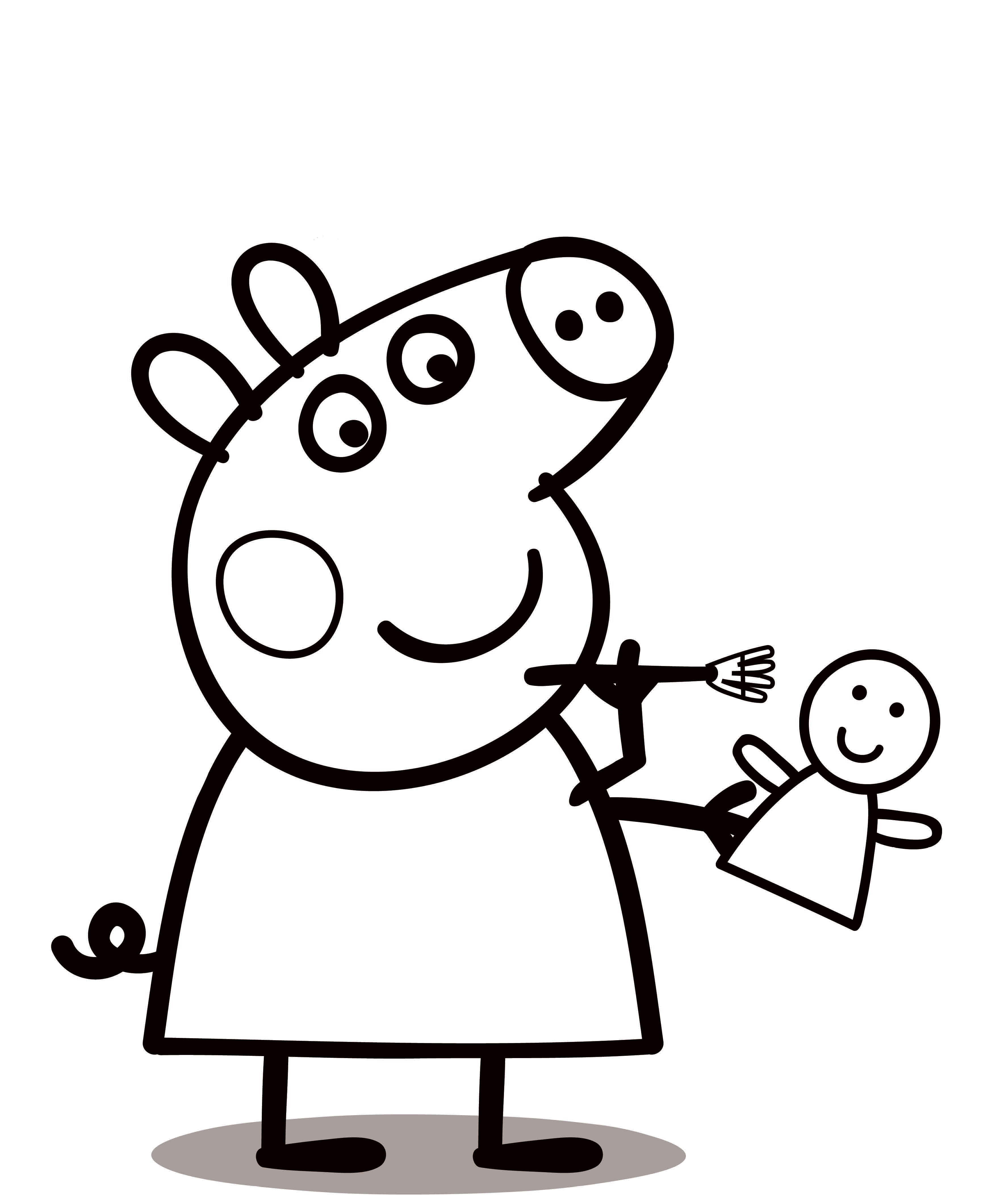 It is a picture of Smart Peppa Coloring Pages