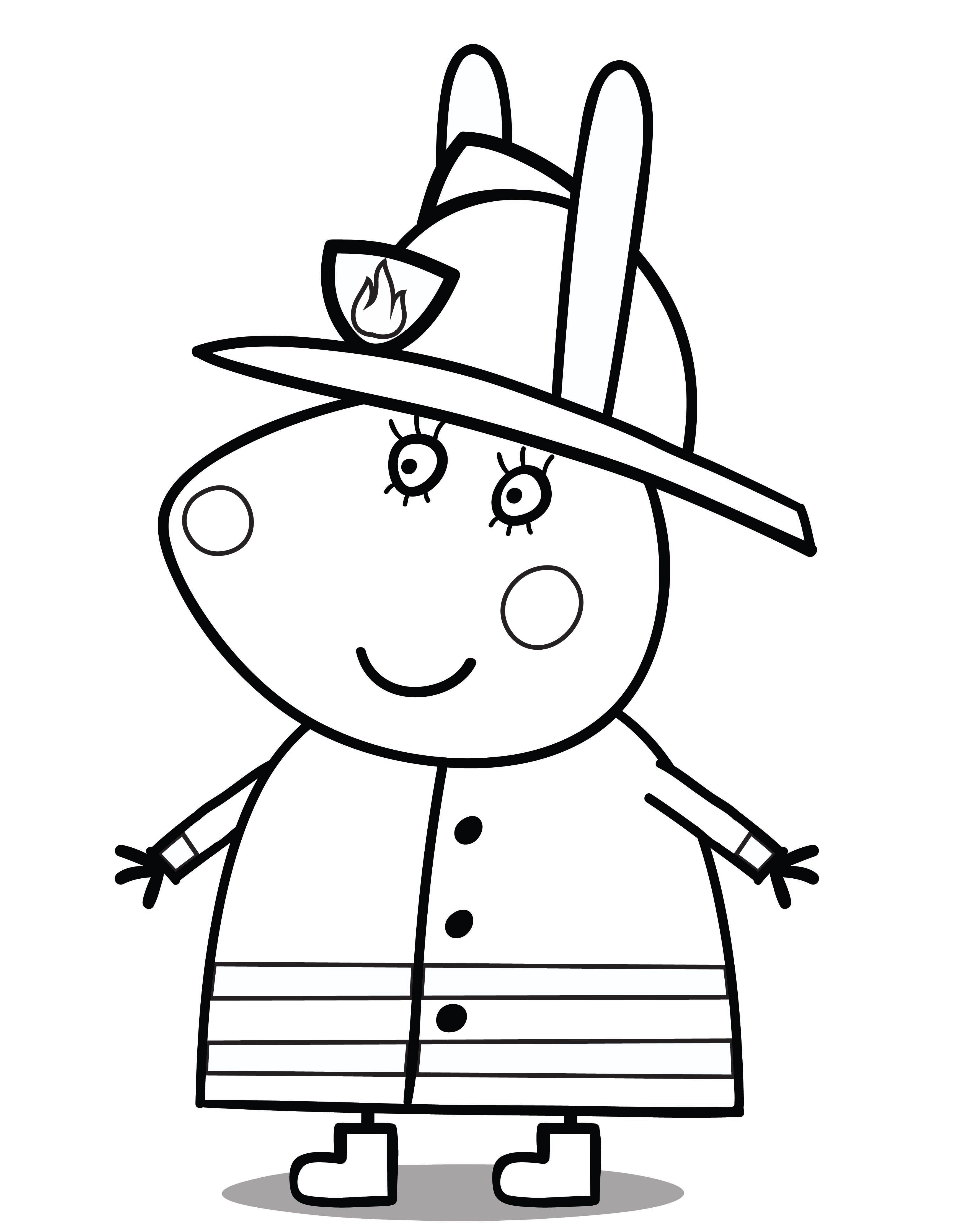 Coloring pages peppa pig -  The Sun Yellow And Peppa Herself Pink The Little Piggy Will Smile With Gratitude To A Young Artist Ninja Turtles Coloring Pages