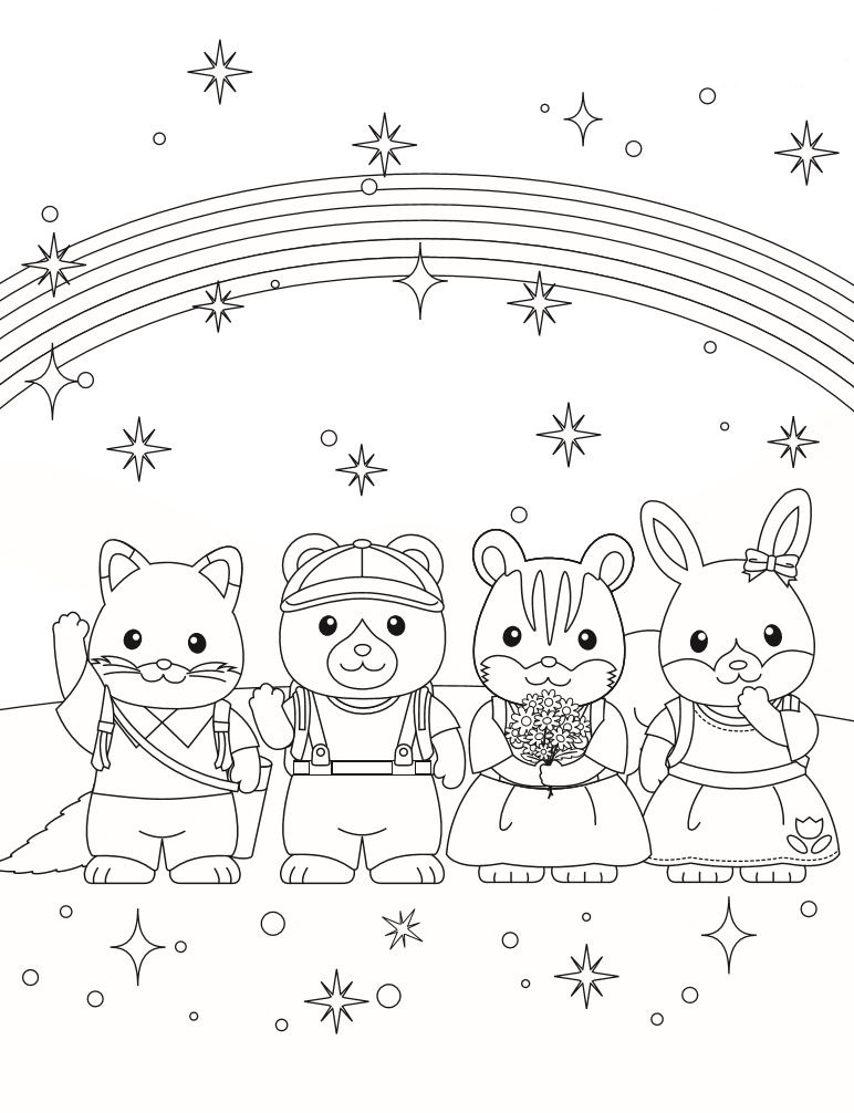 calico critters coloring pages printable - photo#24
