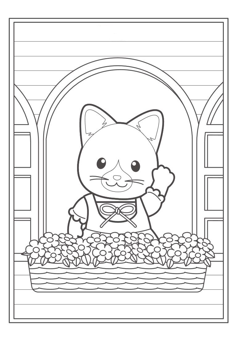 Calico Critters Coloring Pages #6