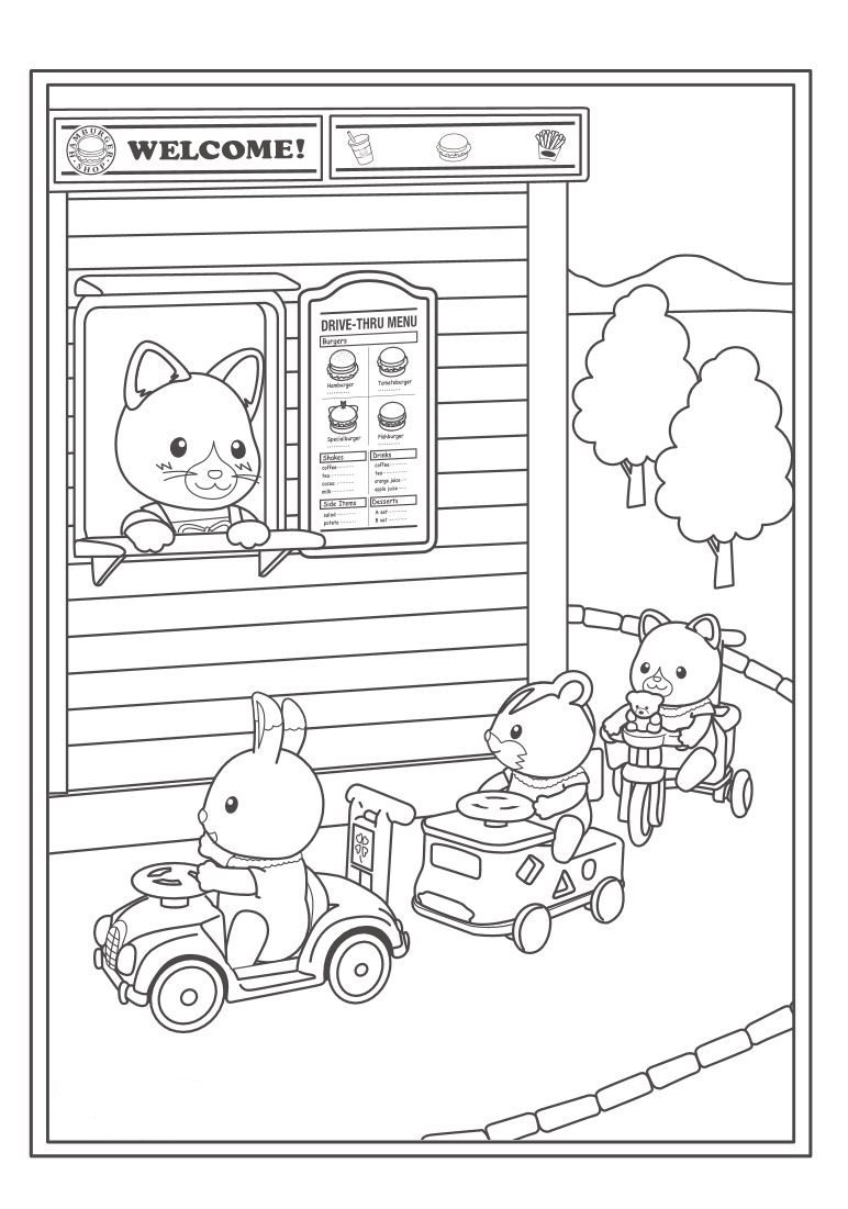 calico critters coloring pages printable - photo#26