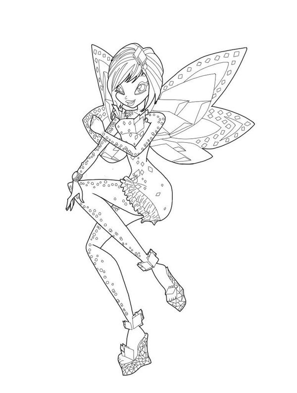 winx club tynix coloring pages - photo#4