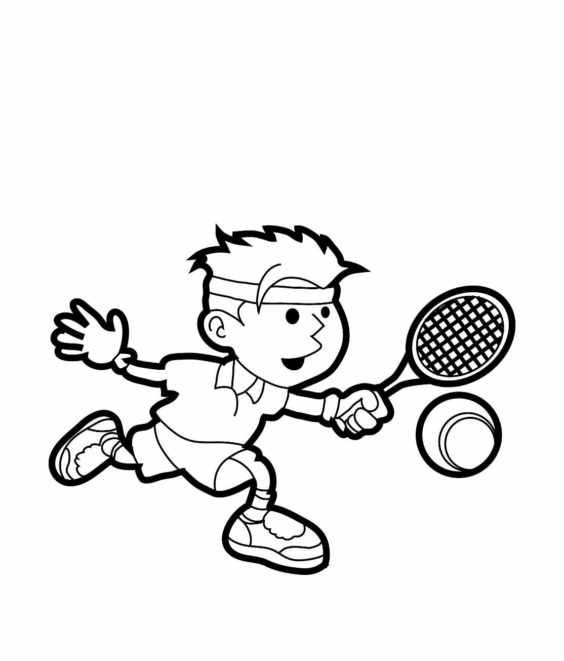 Tennis Coloring Pages for childrens