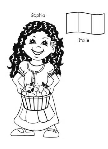 child around the world coloring pages | Children Around The World Coloring Pages to download and ...
