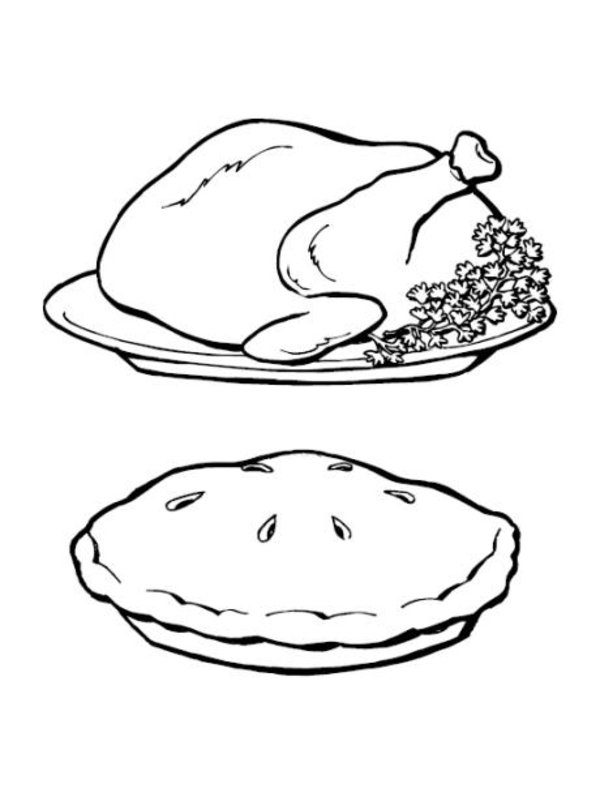pin thanksgiving day coloring page sheets turkey simple on