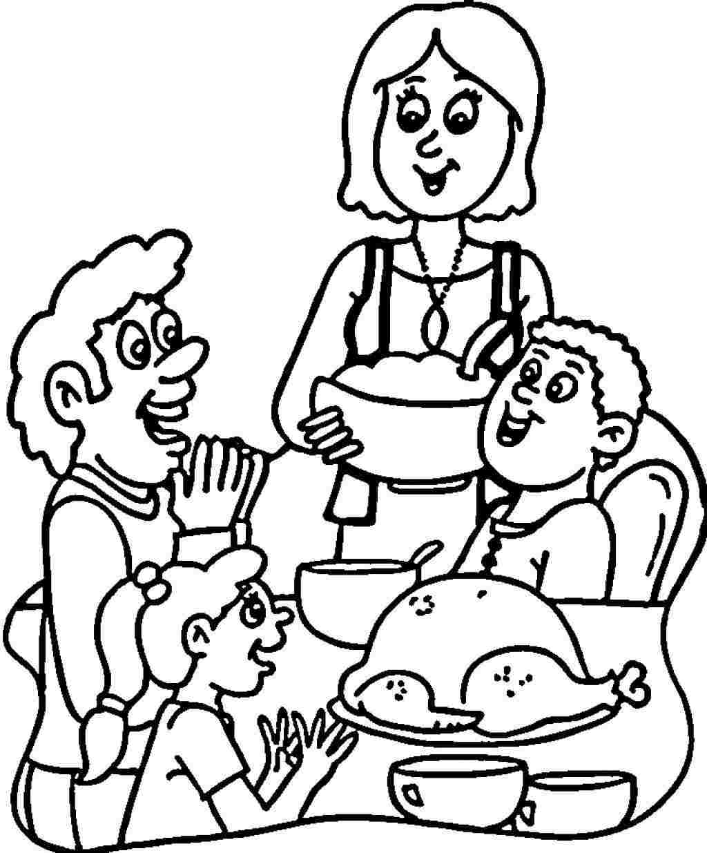 thanksgiving day coloring pages for childrens printable for free