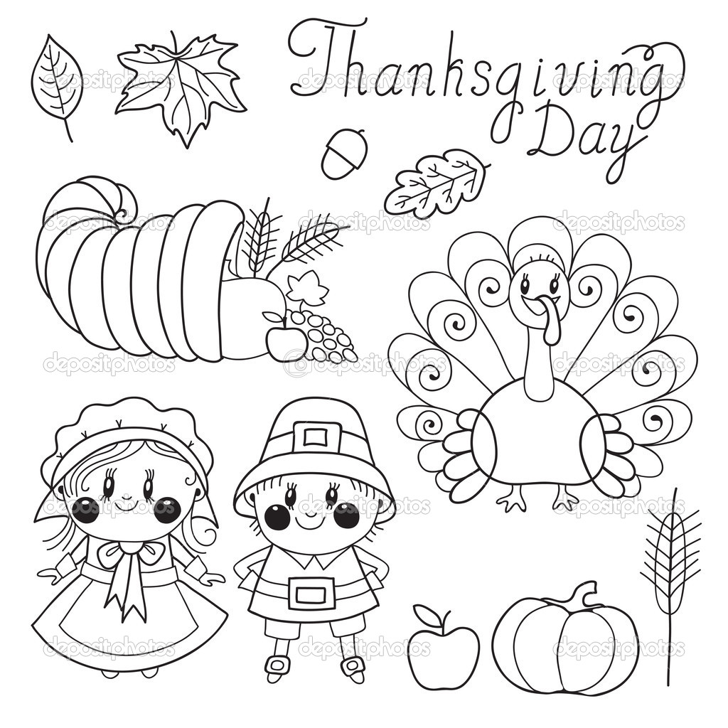 thanksgiving holiday coloring pages - photo#11
