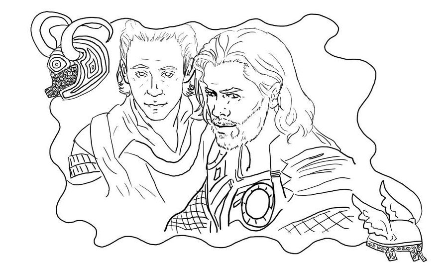 20 Free Printable Thor Coloring Pages: Loki Coloring Pages To Download And Print For Free