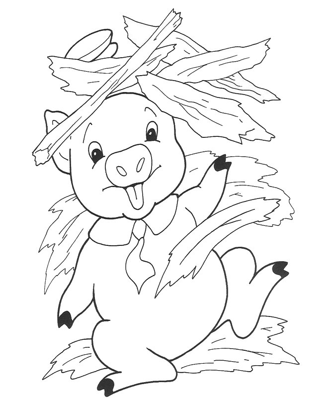 little pig coloring pages - photo#6