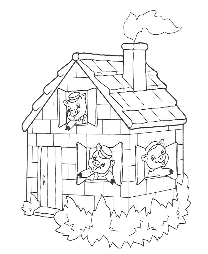 amazing three little pigs coloring pages house of sticks festooning