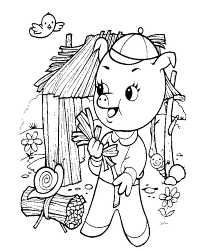 little pig coloring pages - photo#42