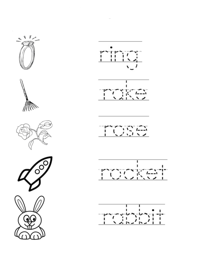 Letter R coloring pages to download