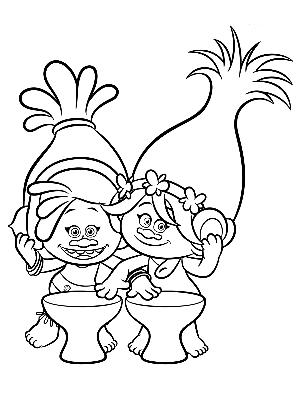 pop troll coloring pages - photo#12