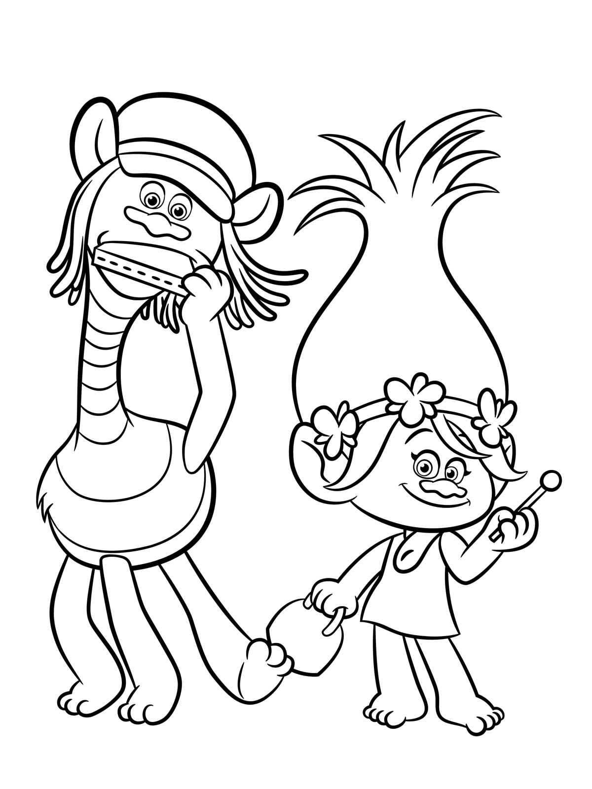 Trolls Coloring pages to download