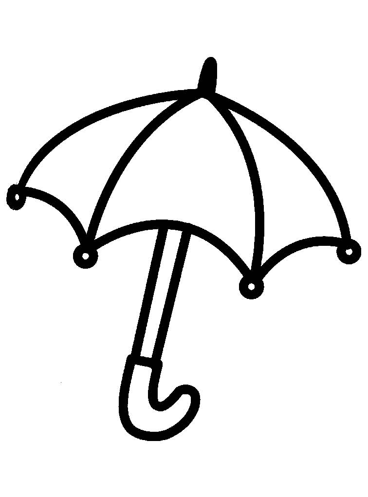 Umbrella Coloring Pages for childrens