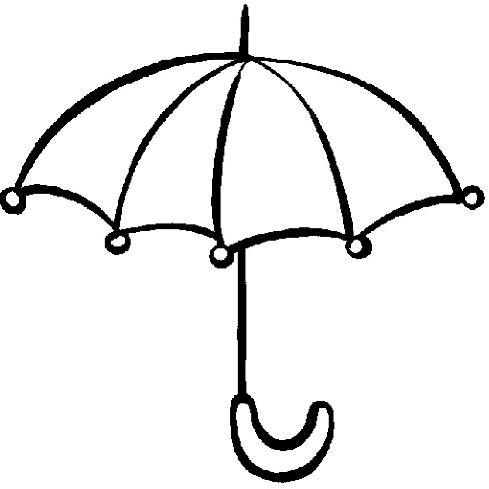 umbrella coloring pages | Umbrella Coloring Pages for childrens printable for free