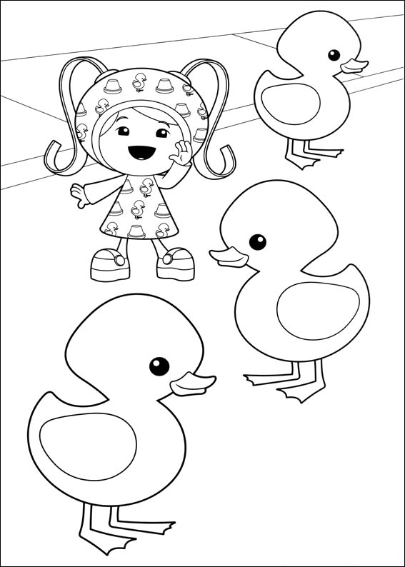 umizoomi coloring pages to and print for free