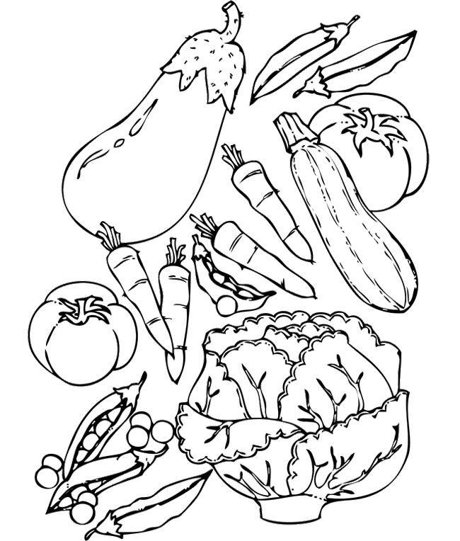 Vegetable Coloring Pages for childrens