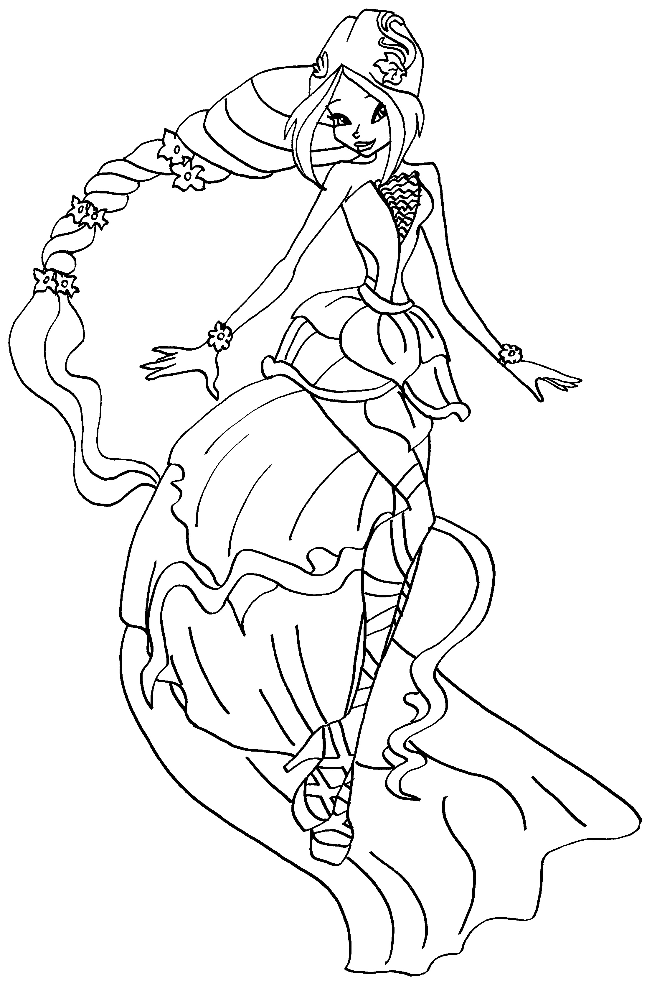 Winx Princess coloring pages download and print for free