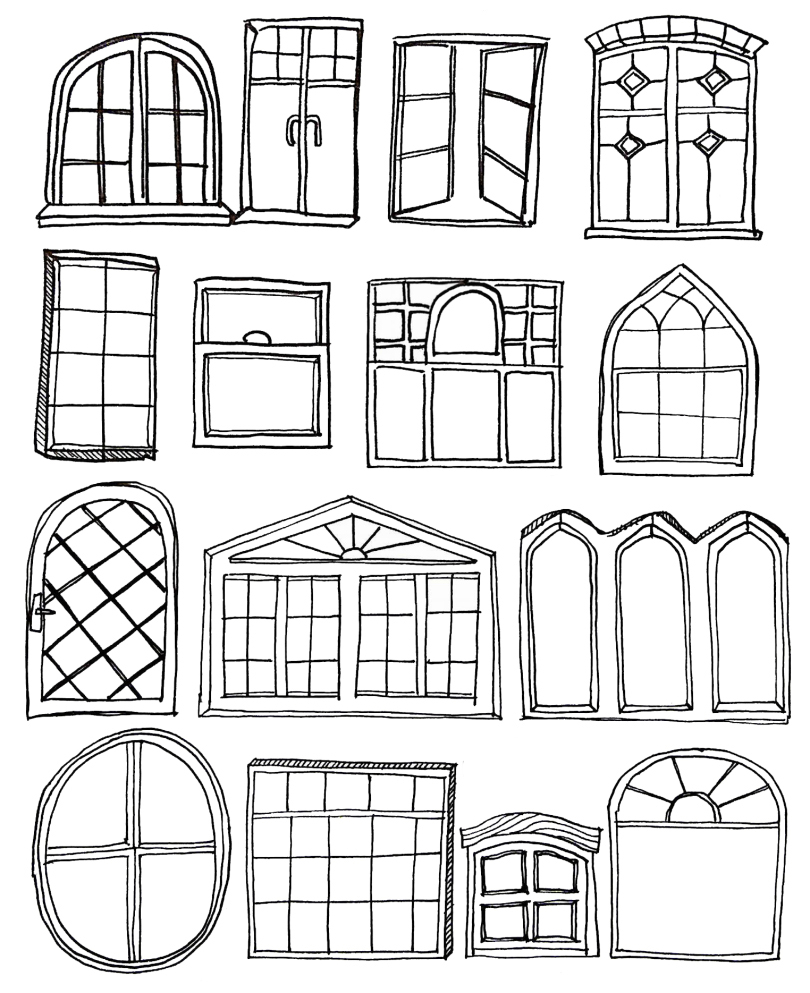 Window coloring pages to download