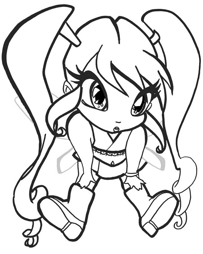 Winx Pixie coloring pages to download and print for free