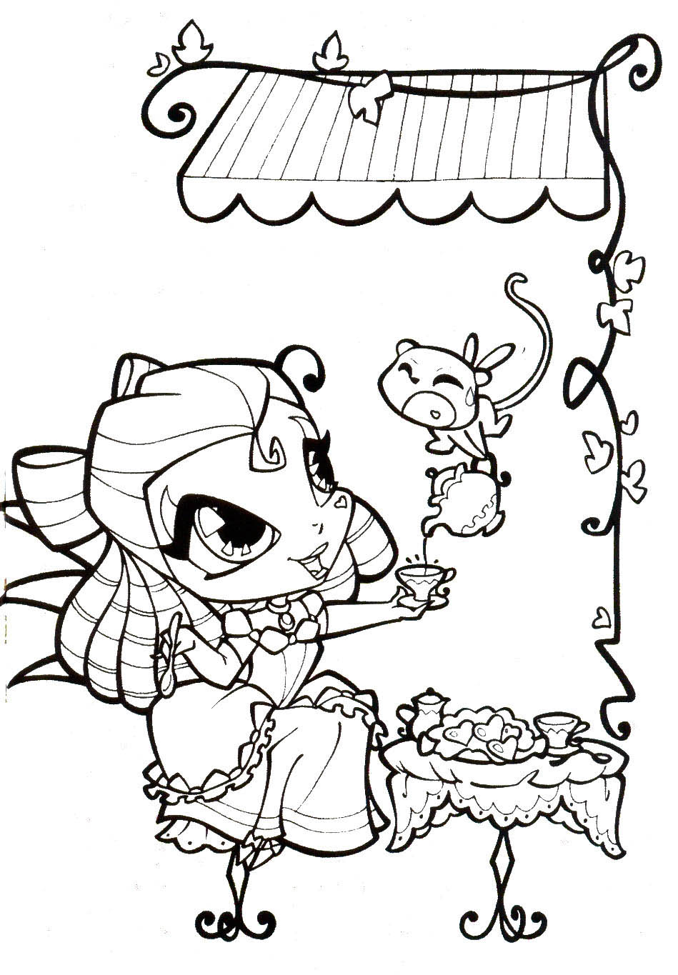 Winx Pixie coloring pages to download