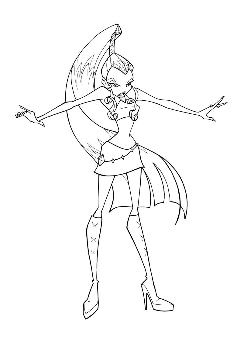 winx trix coloring pages | Trix coloring pages to download and print for free