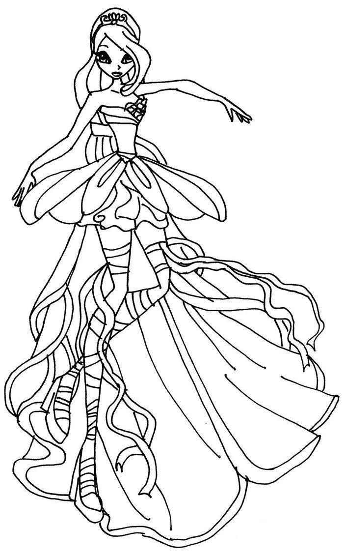 Winx Harmonix coloring pages to download and print for free