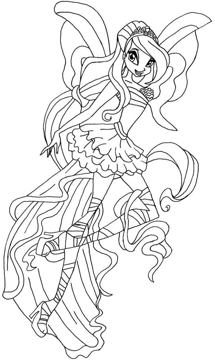 Winx harmonix coloring pages to download and print for free for Winx club bloom coloring pages
