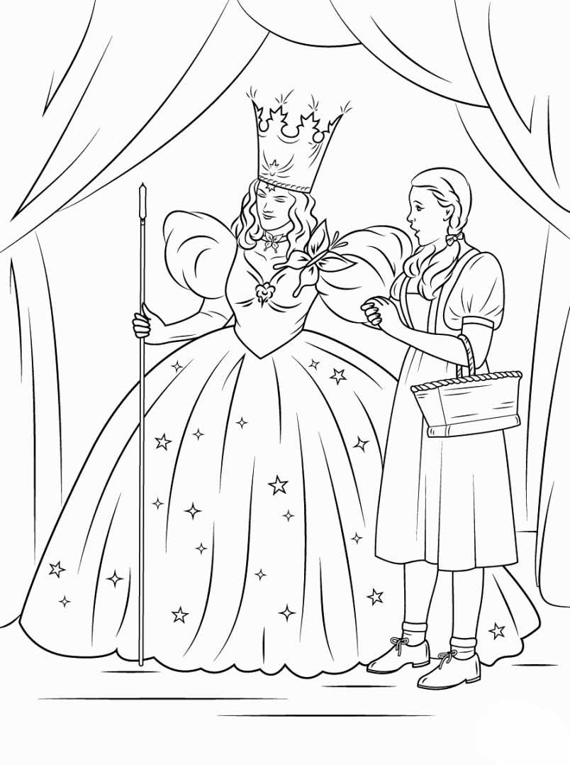 It is a graphic of Versatile wizard of oz coloring book