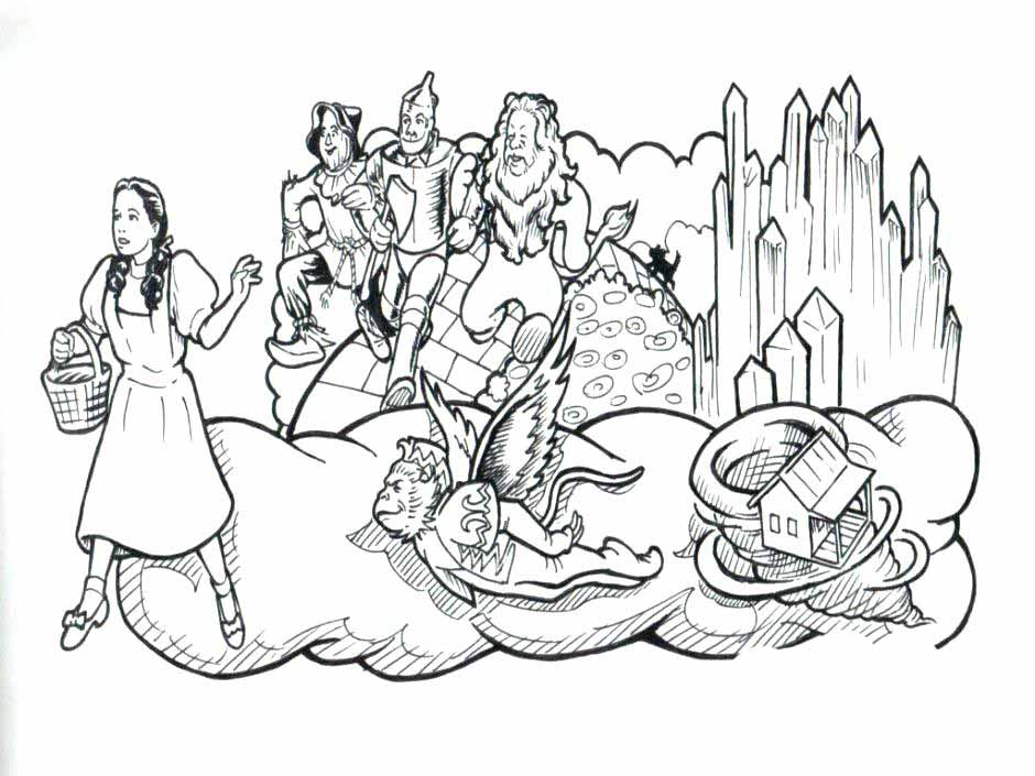 The Wizard of Oz coloring pages to download and print for free
