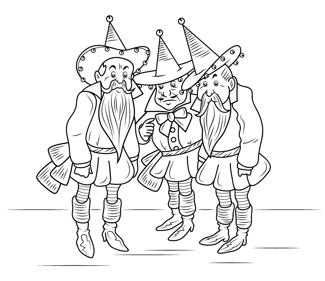 This is a picture of Exceptional wizard of oz coloring book