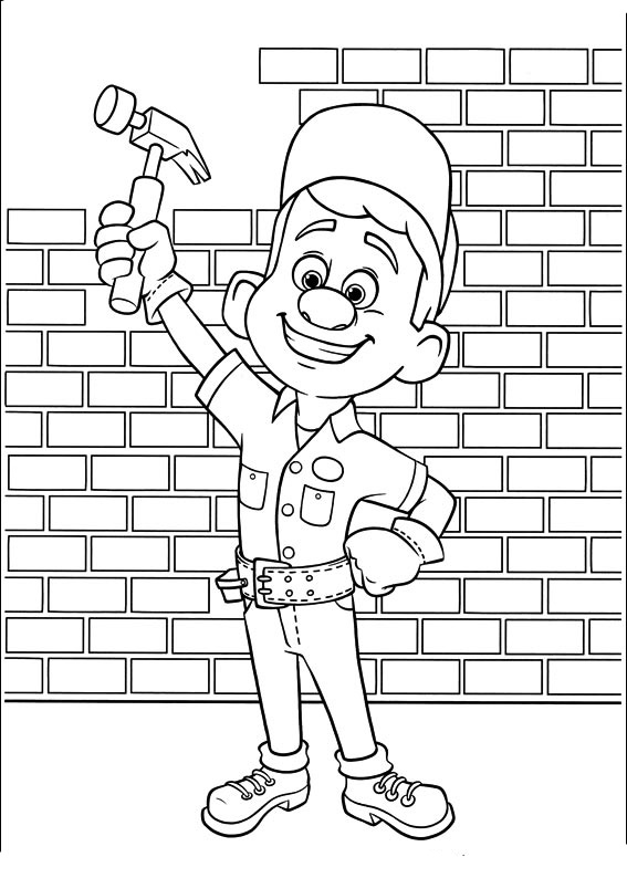 WreckIt Ralph coloring pages to