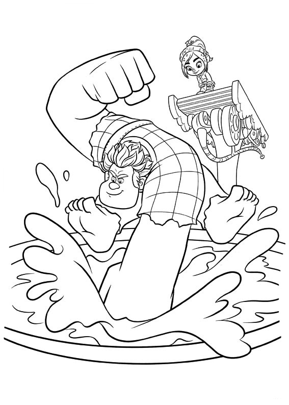 Wreck it ralph coloring pages to download and print for free - Coloriage ralph la casse ...