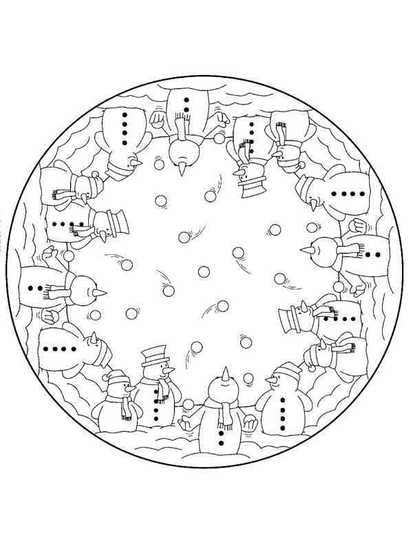 Christmas Mandala Coloring Pages to download and print for ...