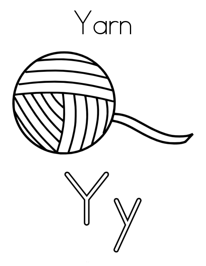 Letter Y Coloring Pages To Download And Print For Free