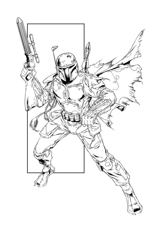 Boba fett coloring pages to download and print for free for Lego jango fett coloring pages