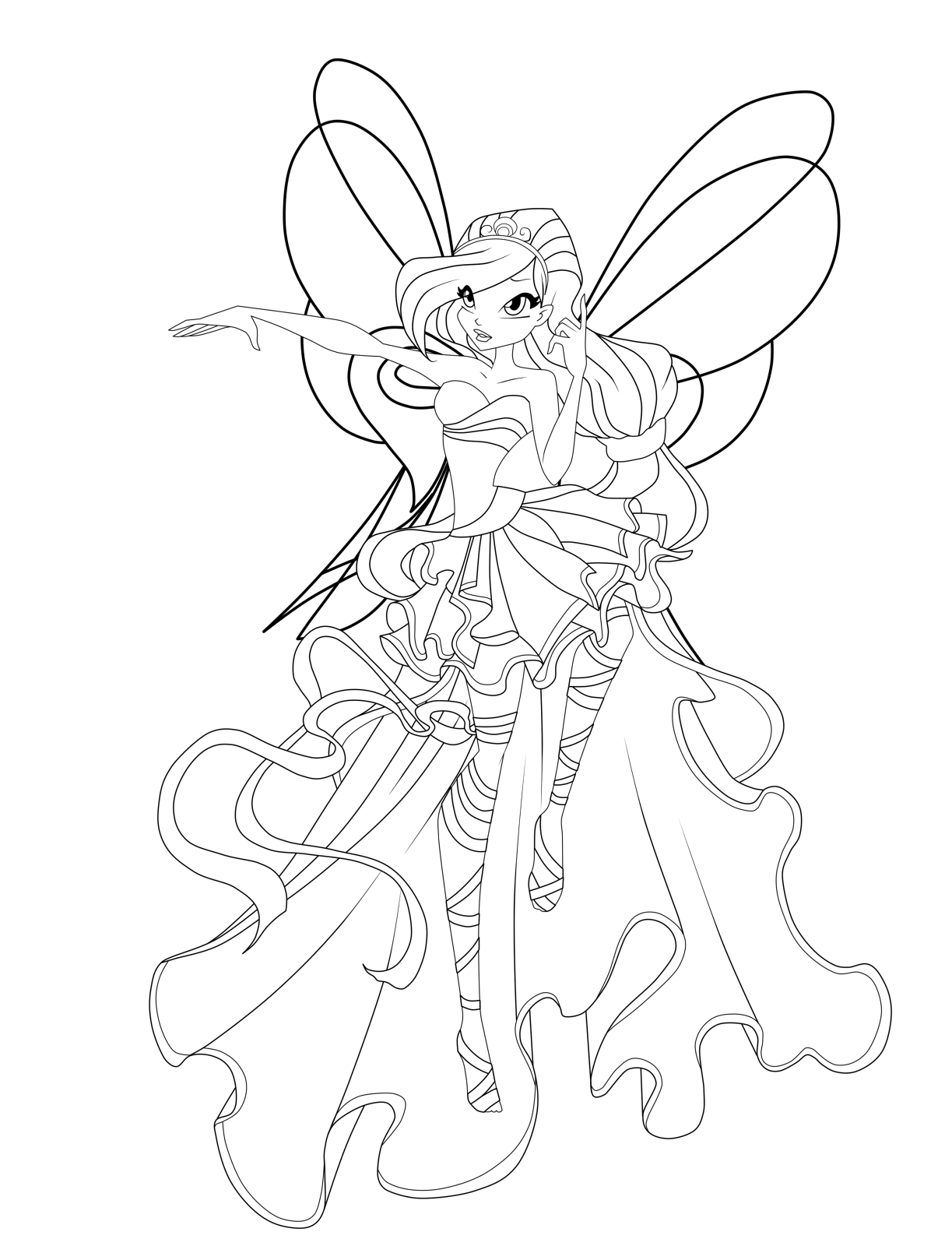 Winx Sirenix Coloring Pages To Download And Print For Free