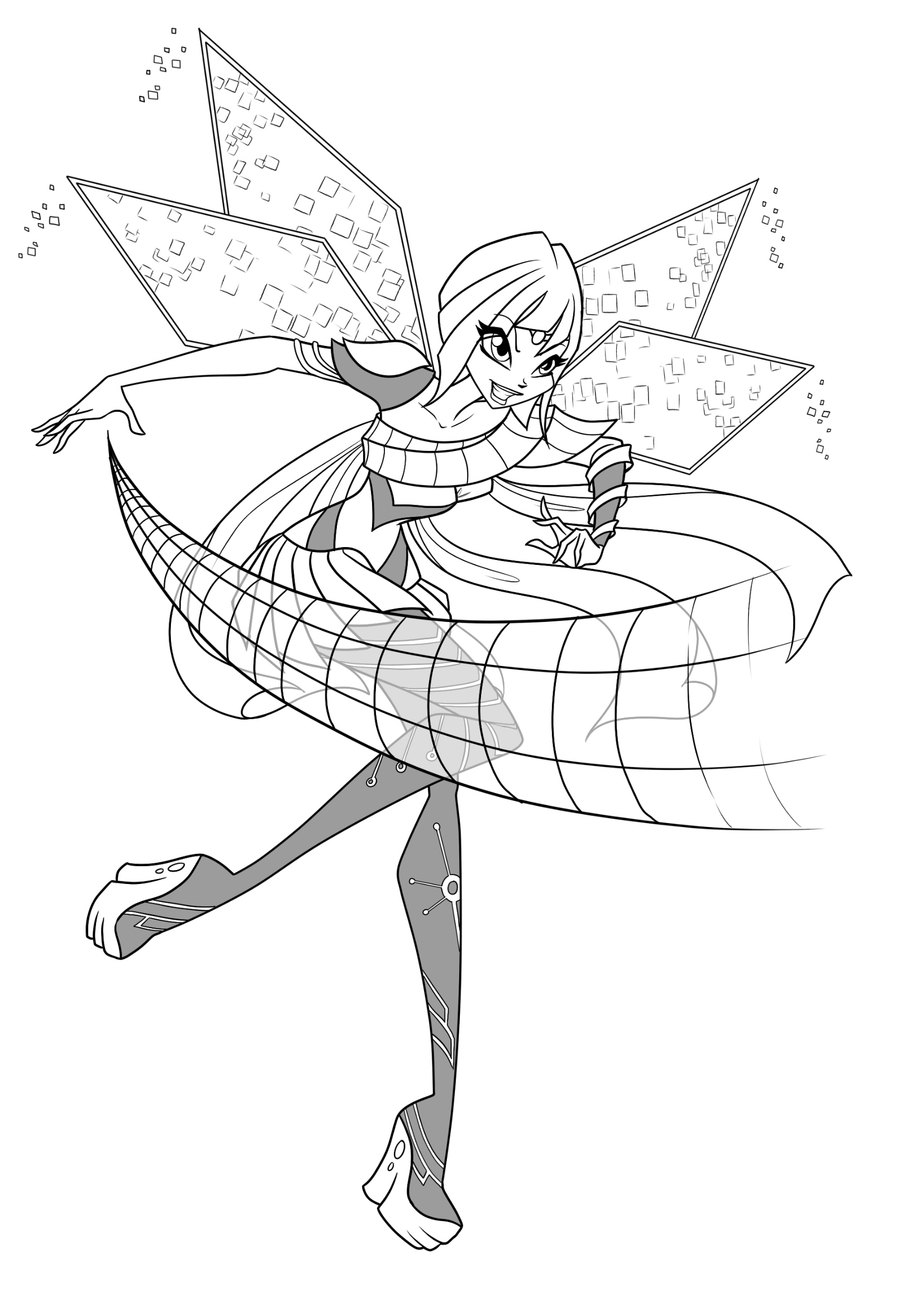 Winx Club Bloomix Coloring Pages To Download And Print For
